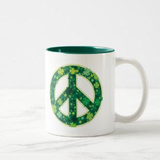 Peace-Shamrock mug