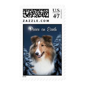 Peace Sheltie Stamp
