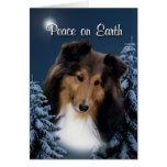 Peace Sheltie Xmas Card