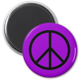 Peace Sign 2 Inch Round Magnet