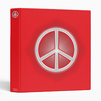 Peace Sign 3 Ring Binder