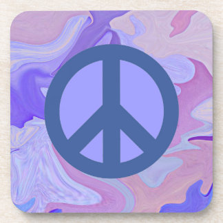 peace sign abstract art coaster