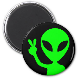 Peace Sign Alien Magnet