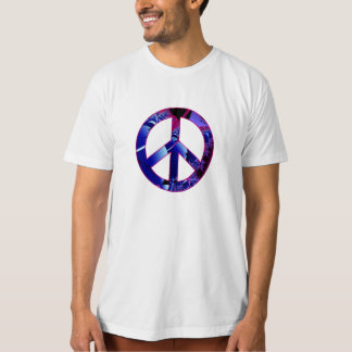 Peace Sign Alien Pods Fractal T-Shirt