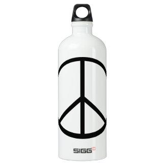 Peace sign aluminum water bottle