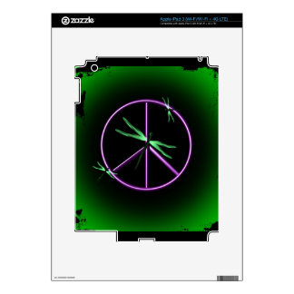 Peace Sign and Dragonfly iPad 3 Skin