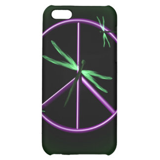 Peace Sign and Dragonfly iPhone 5C Covers