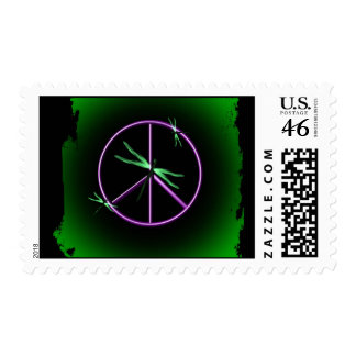 Peace Sign and Dragonfly Postage