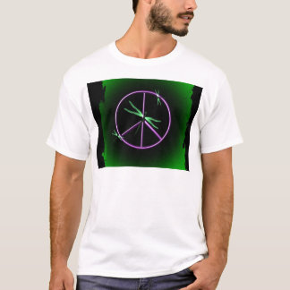 Peace Sign and Dragonfly T-Shirt