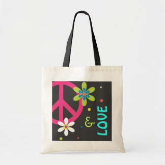 Peace Sign and Love Tote Bag