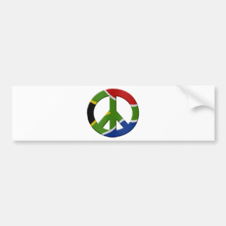 Peace sign and South African flag Bumper Sticker