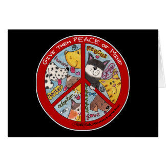 Peace Sign-Animal Protection Card
