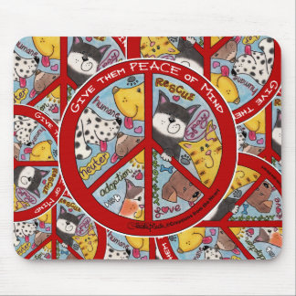 Peace Sign-Animal Protection Mouse Pad