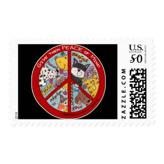 Peace Sign-Animal Protection Postage