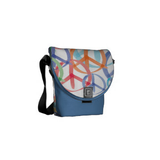 Peace Sign Art Courier Bags