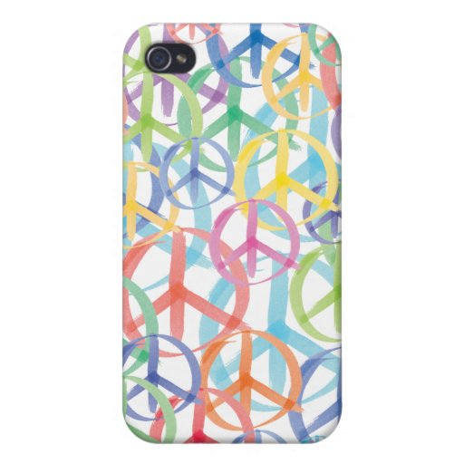 Peace Sign Art Covers For iPhone 4