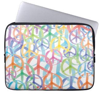 Peace Sign Art Laptop Sleeve
