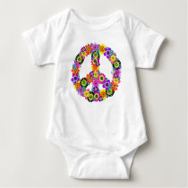 Peace Sign Baby Bodysuit