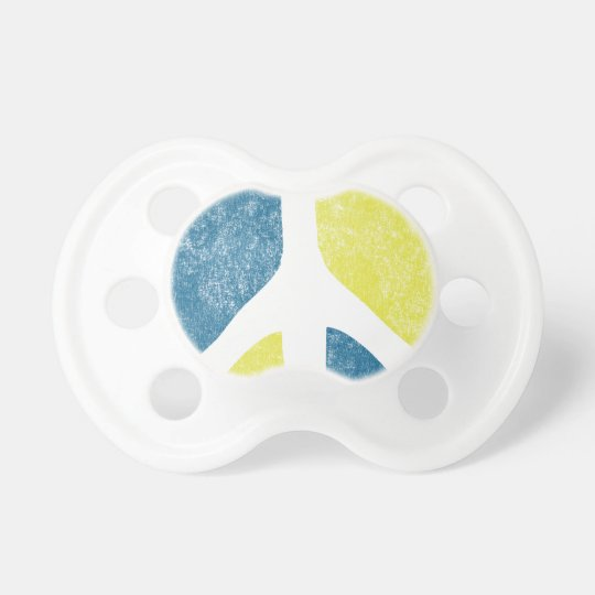 Peace Sign Baby Pacifier