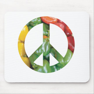 Peace Sign Bell Peppers Mousepads