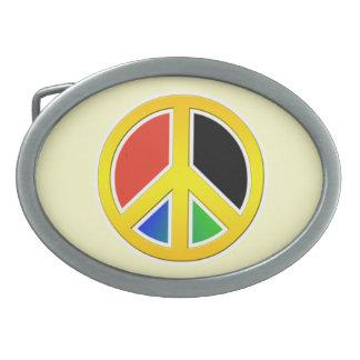 Peace sign belt buckles