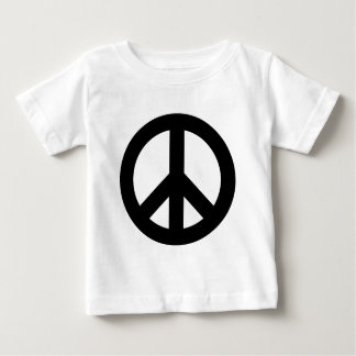 Peace Sign Black Baby T-Shirt