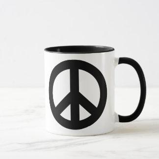Peace Sign Black Mug