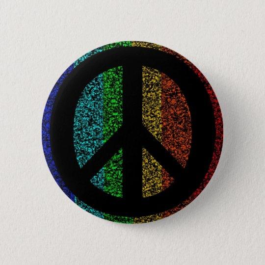 Peace Sign Black Pinback Button