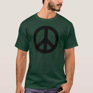 Peace Sign Black T-Shirt