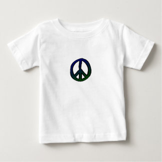 Peace Sign Blue and Green mini Baby T-Shirt