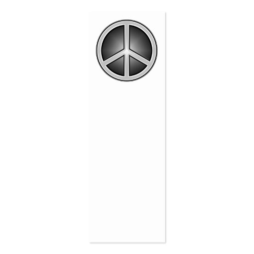 Peace Sign Bookmark Business Card Template