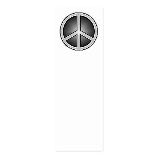 Peace sign Business Card Templates | BizCardStudio