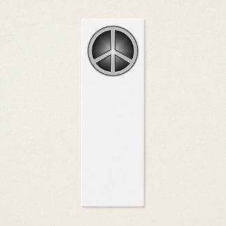 Peace Sign Bookmark Mini Business Card