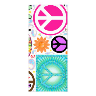 Peace Sign Bookmarks Rack Card
