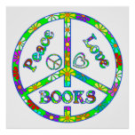Peace Sign Books Print