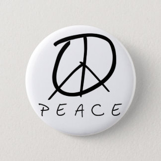 Peace Sign: Bud Hand Script Button