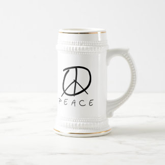 Peace Sign: Bud Hand Script Coffee Mugs