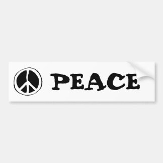Peace Sign Car Bumper Sticker