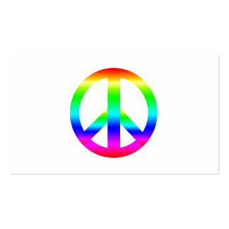 Peace Sign Double-Sided Standard Business Cards (Pack Of 100)