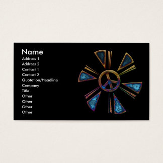 PEACE SIGN BUSINESS CARDS