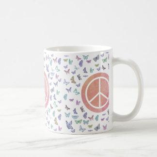 Peace Sign Butterflies Coffee Mug