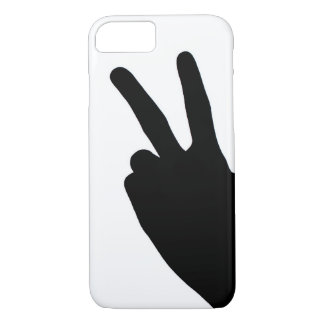 Peace Sign by Hand iPhone 7 Case