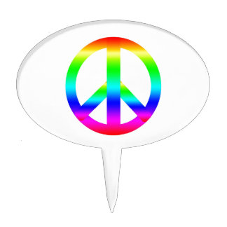 Peace Sign Cake Toppers