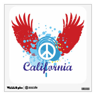 Peace Sign - California Wall Decal