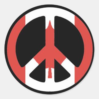 Peace Sign Canada Sticker