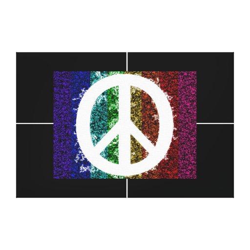 Peace Sign Canvas Print