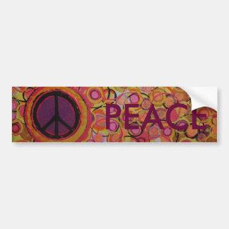 Peace Sign Car Bumper Sticker