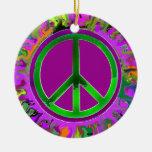 Peace Sign Christmas Christmas Ornament