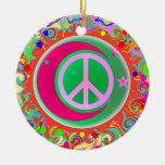 Peace Sign Christmas Ornaments