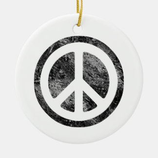 Peace Sign Christmas Ornaments